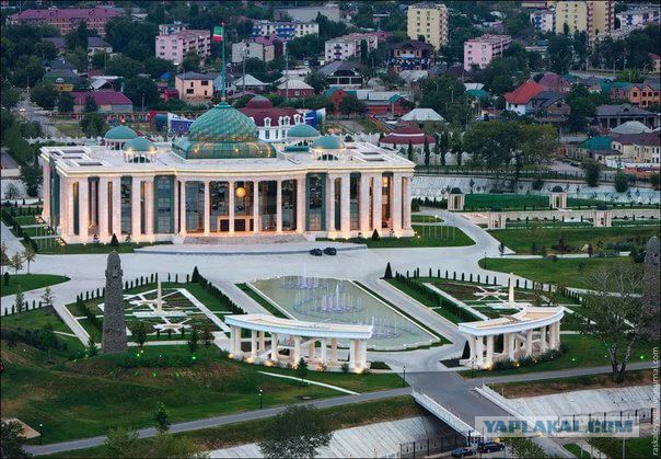 Уборка парка у дворца Кадырова обойдется бюджету в 34 миллиона рублей