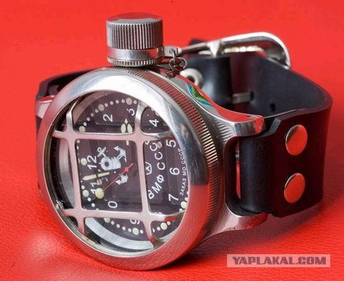 часы с решёткой водолазные. Наручные