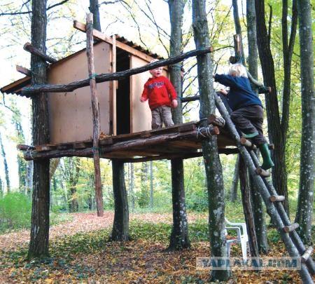 Как сделать домик на дереве для ребенка