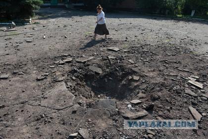 Укры из миномета попали по России