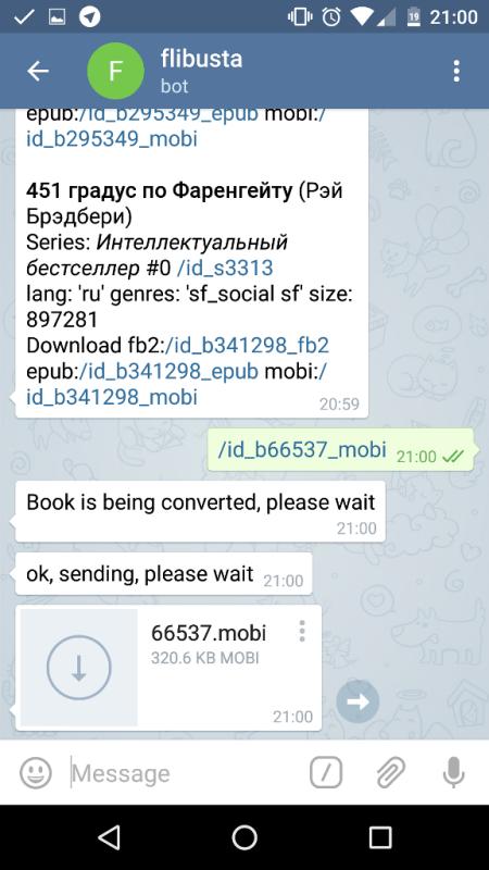 Заблокированная онлайн-библиотека «Флибуста» запустила бота в Telegram для скачивания книг