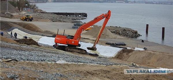 Свежие фото с места строительства моста