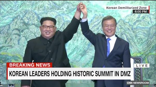 Главы Северной и Южной Кореи решили прекратить войну, длившуюся с 1950-х годов