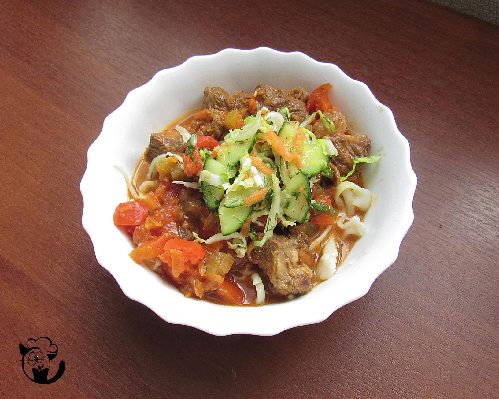 Лагман по уйгурски пошаговый рецепт