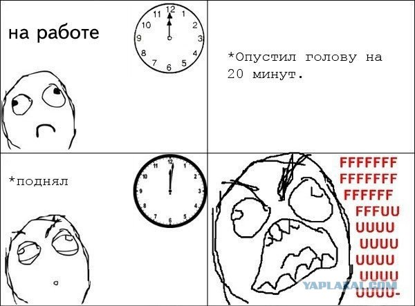 Время на работе и дома