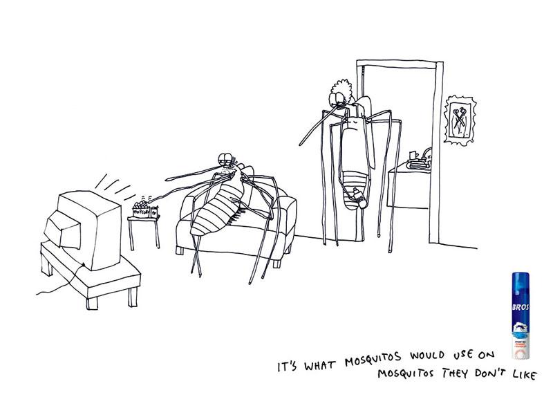 картинки комаров прикольные