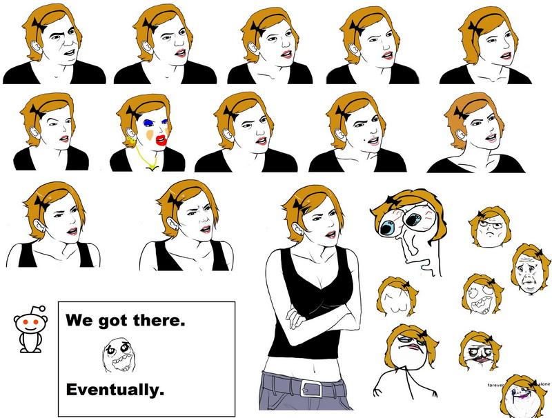 девушки с челкой нарисованные: