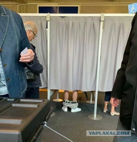 А в это время на выборах в Бельгии