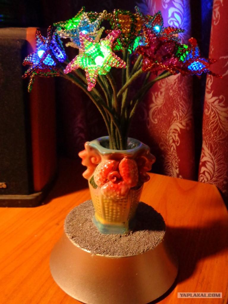 Цветок из проводов своими руками 13