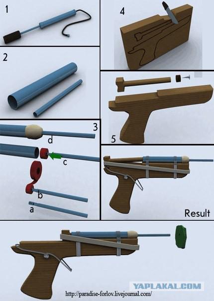 Как сделать что бы самодельное ружье стреляло