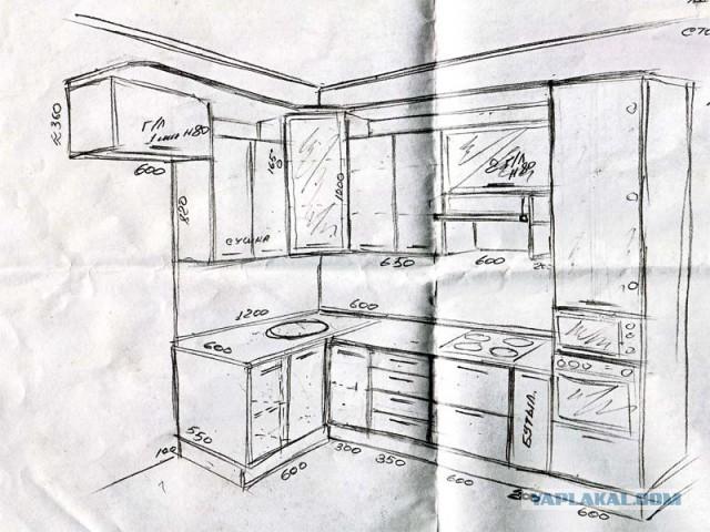 Ремонт кухни 8 м2
