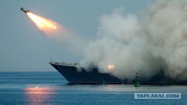 Российский военно-морской флот атаковал террористов в Алеппо
