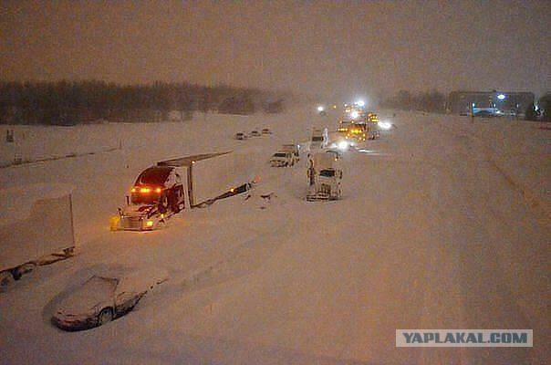 Ещё немного заваленного снегом Хабаровска