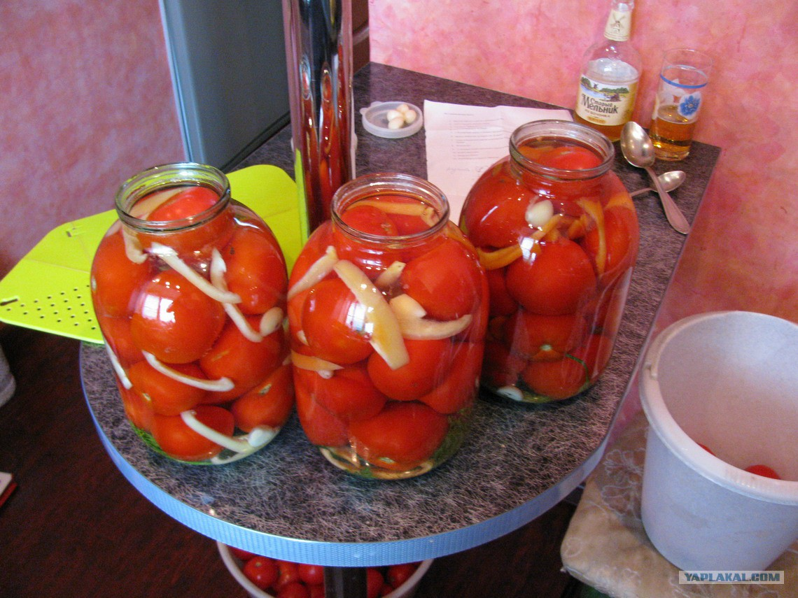 Вкусные помидоры на зиму от домохозяек