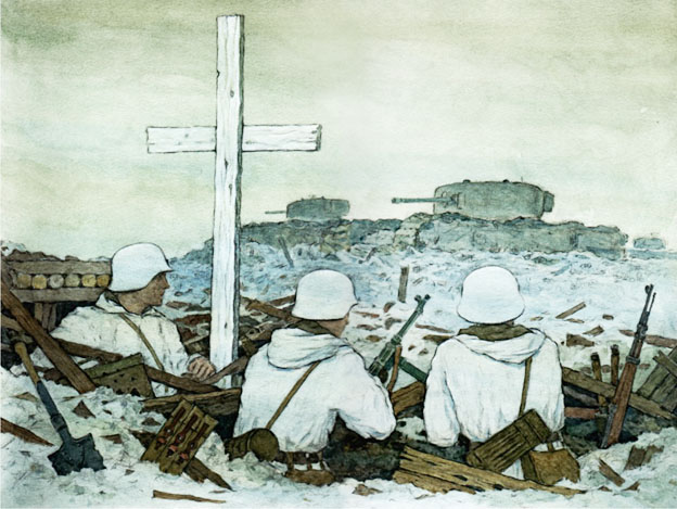 """Крест перед """"Черчиллем""""."""