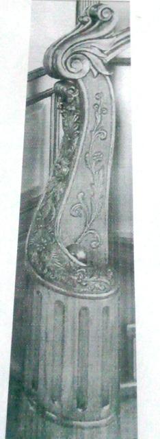 Изготовление заходного столба на лестницу