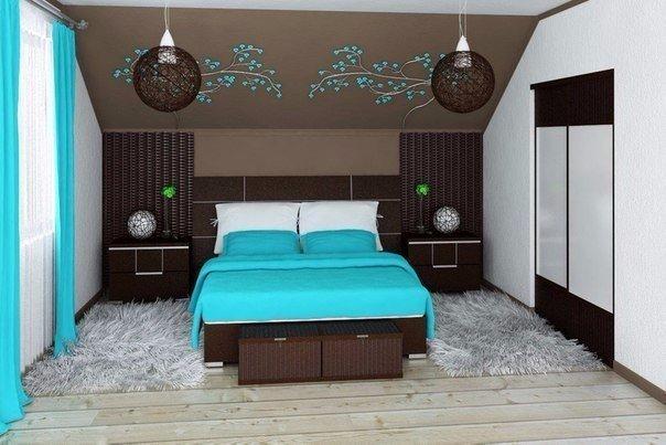 Ремонт спальни мансарда дизайн реальные
