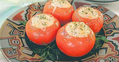 Ингредиенты для рецепта.  Горячая закуска из помидоров и креветок.