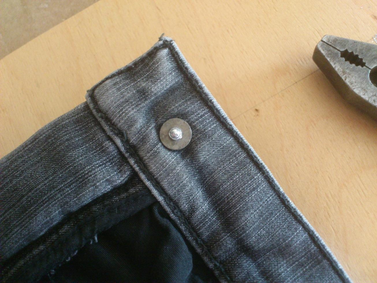Ремонт пуговицы на джинсах своими руками 90