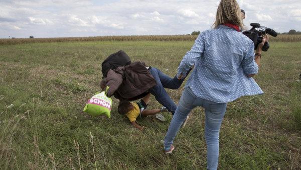Сбитый с ног беженец оказался боевиком Аль-Каиды