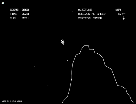 Посадка на луну игра алгоритм