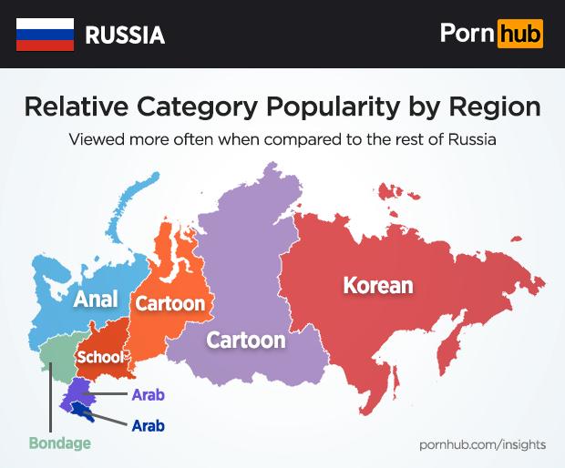 Саша Грей, хентай, 9 минут: Pornhub рассказал о предпочтениях россиян в порно
