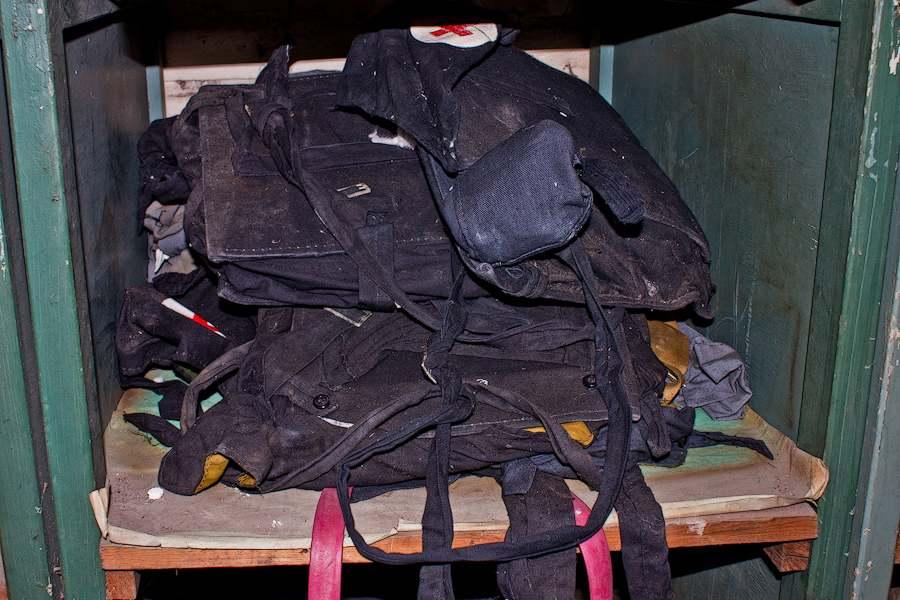 Подавляющую часть вещей составляют медицинские сумки.  08.11.10, 15:35.
