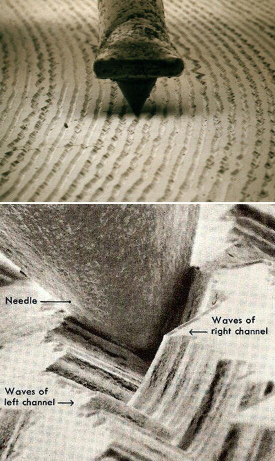 Так выглядит виниловая запись под микроскопом