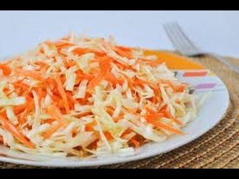 Рецепты простой салат из капусты и моркови