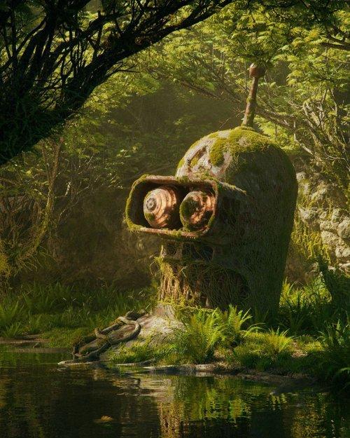 Апокалипсис поп-культуры в серии работ цифрового художника Филиппа Ходаса
