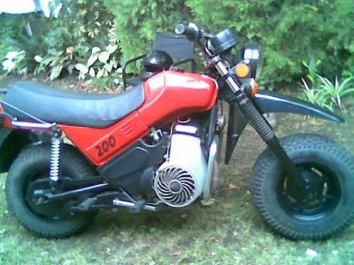 Мотоцикл Тула с одноцилиндровым 200-кубовым двигателем.