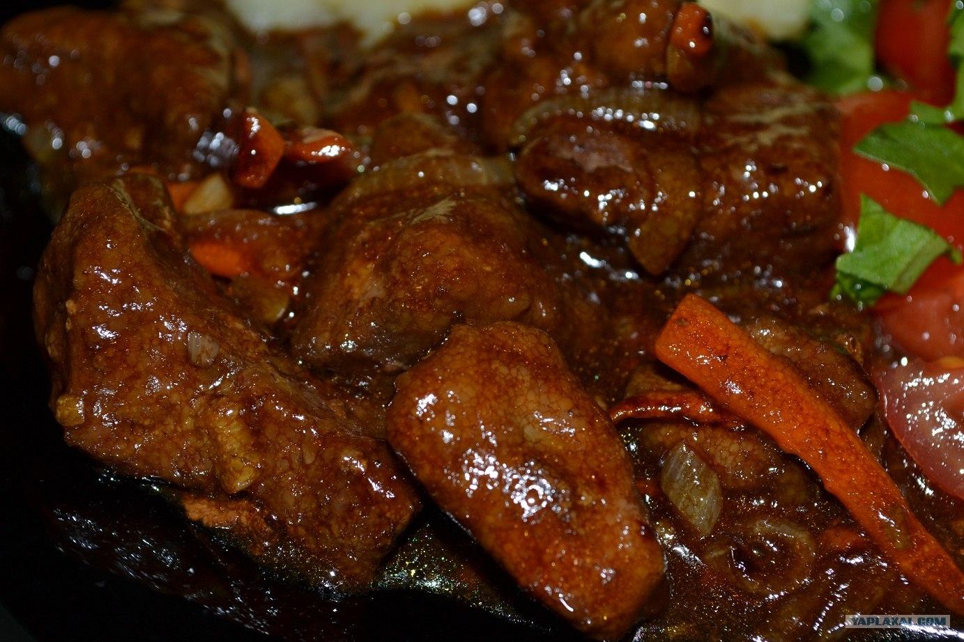 Блюда из отварной печени свиной рецепты простые и вкусные