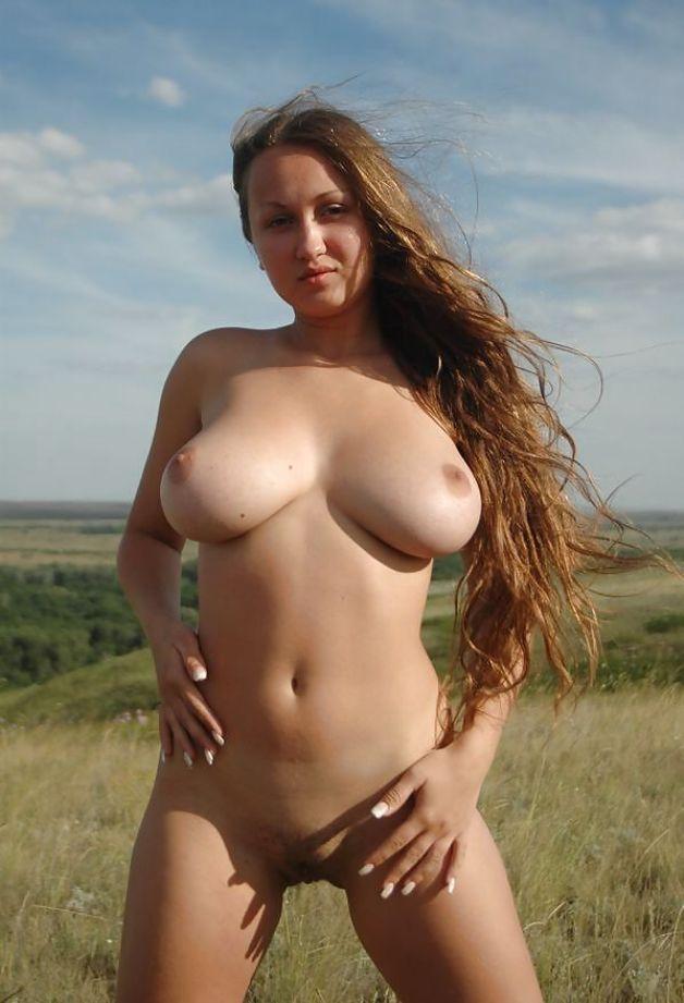 порно фото на природе большая грудь