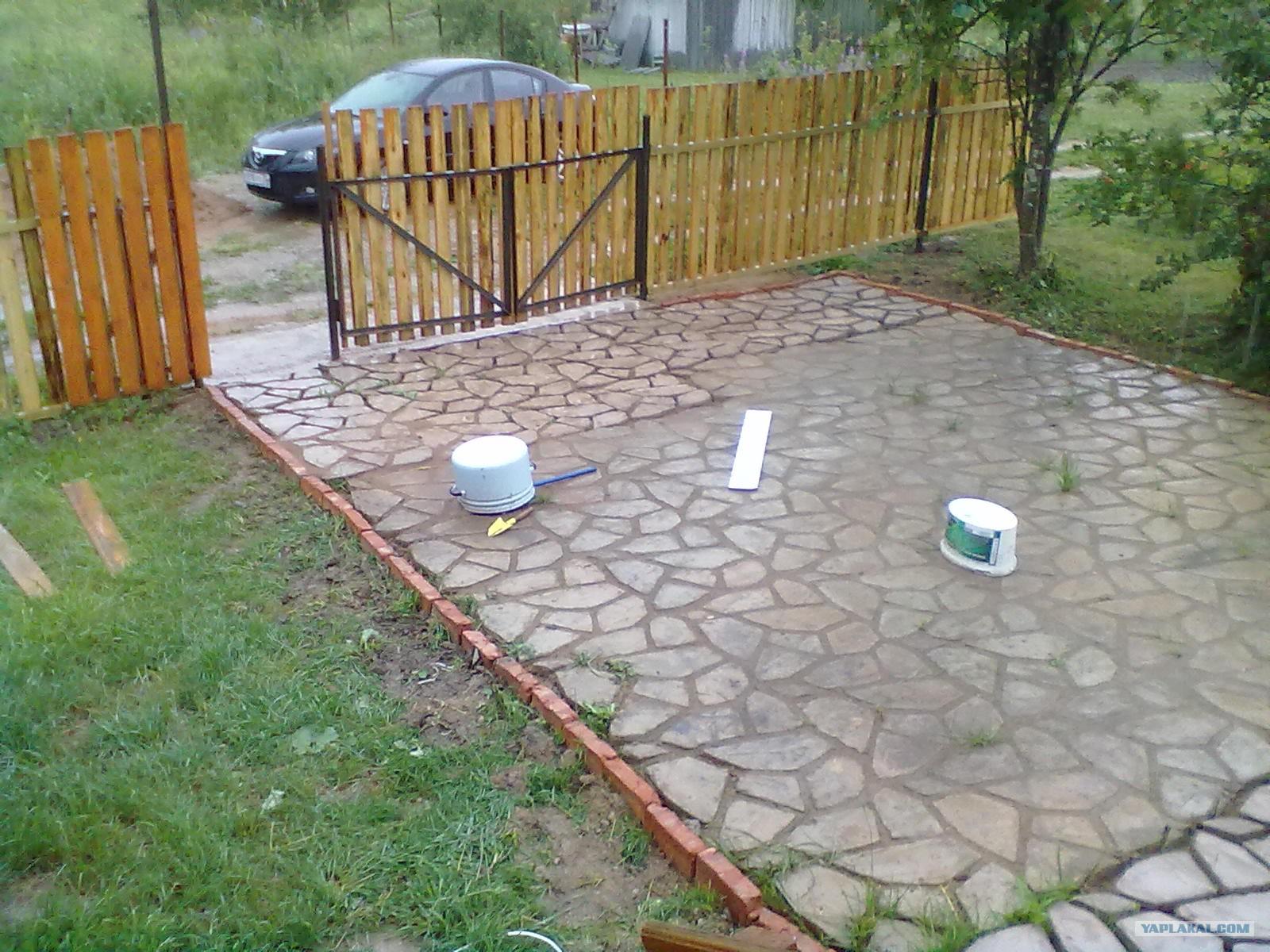 Как сделать площадку на даче своими руками