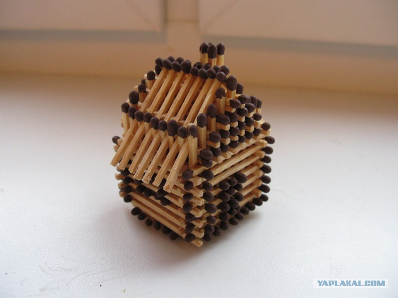 Как сделать домик из спичек пошагово с