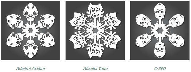 Снежинки на елку