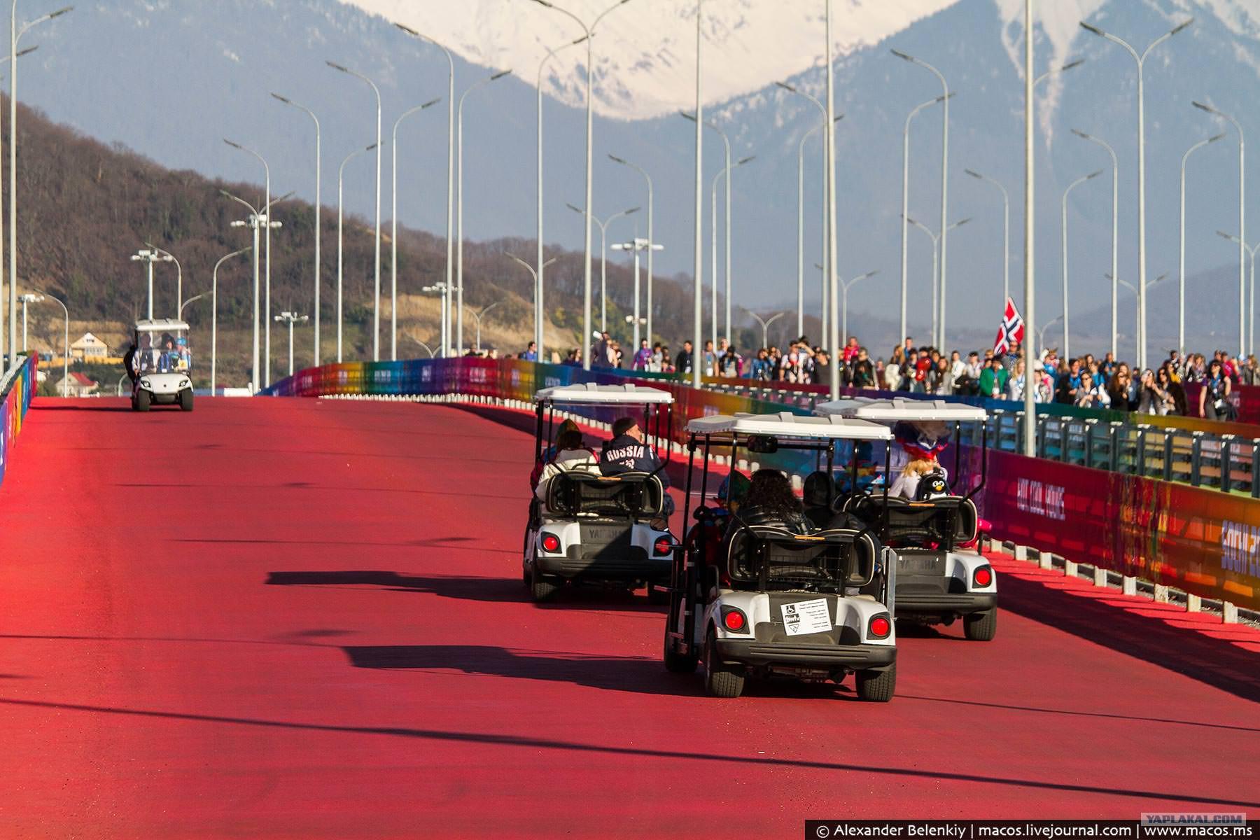 Электрокар в олимпийском парке фото #5