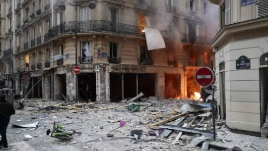 Взрыв произошел в центре Парижа