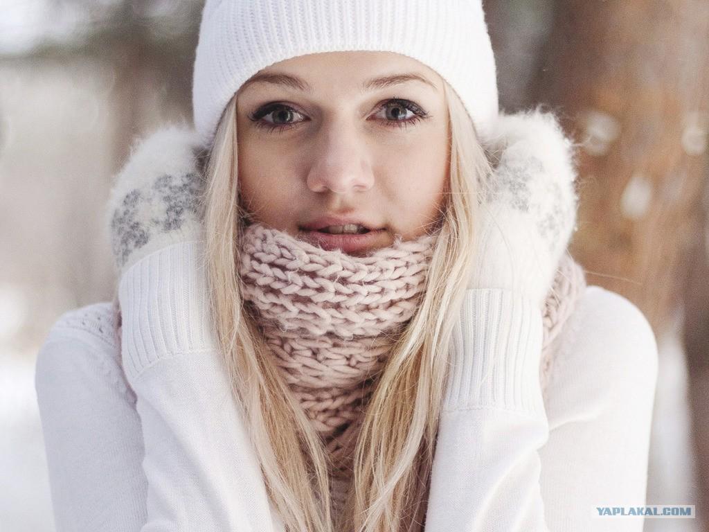 Фото девушек зима на аву
