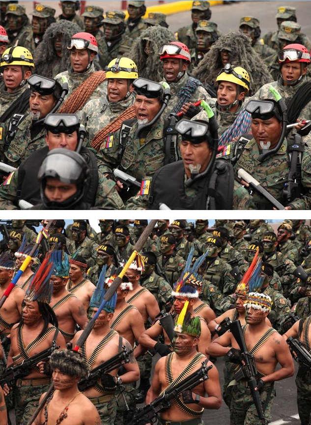 Военный парад в Эквадоре
