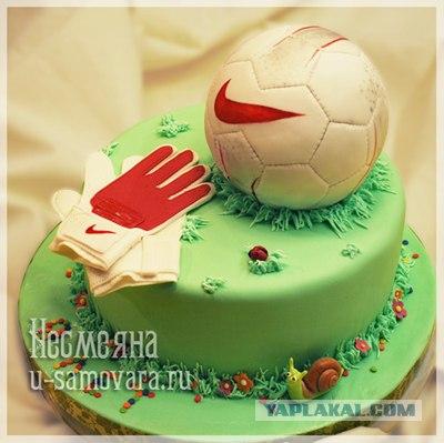 торт в виде футбольного мяча фото.  Торт ФУТБОЛЬНЫЙ МЯЧ.