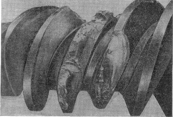 Виды разрушения зубьев червячных колес