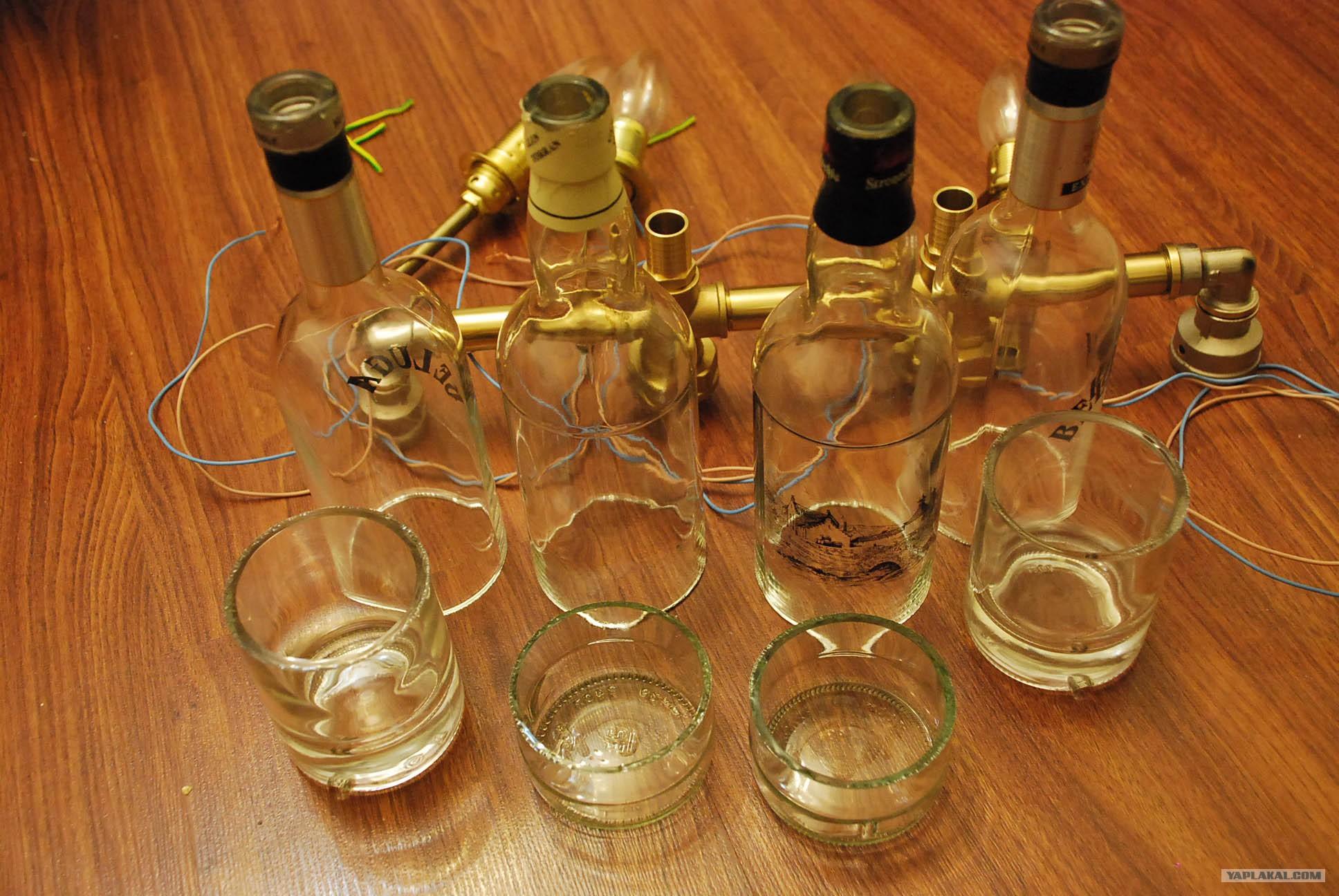 Как сделать стакан из бутылки стеклянной