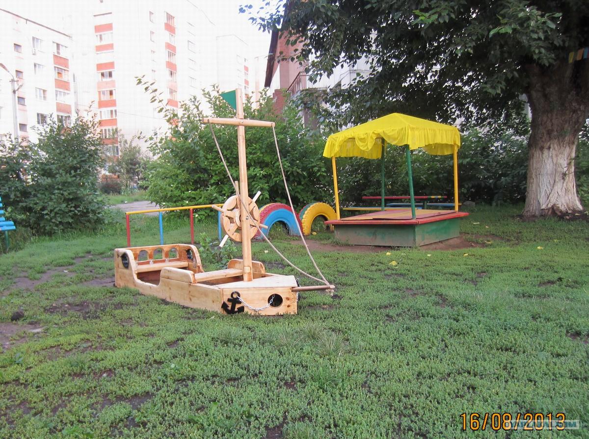 Как сделать корабль из дерева на детскую площадку своими руками