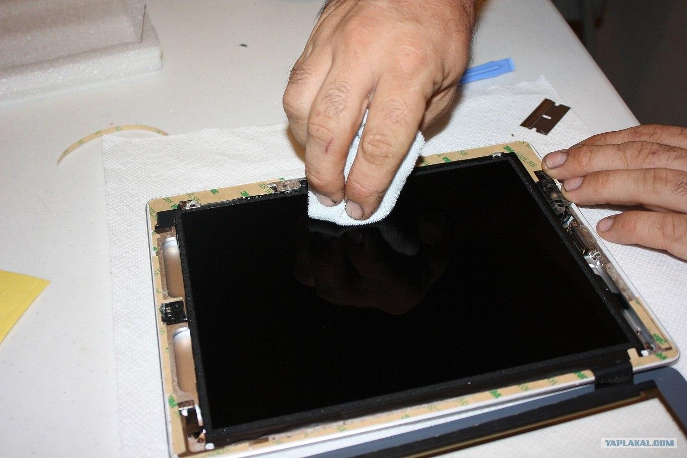 Замена стекла айпад 2 своими руками