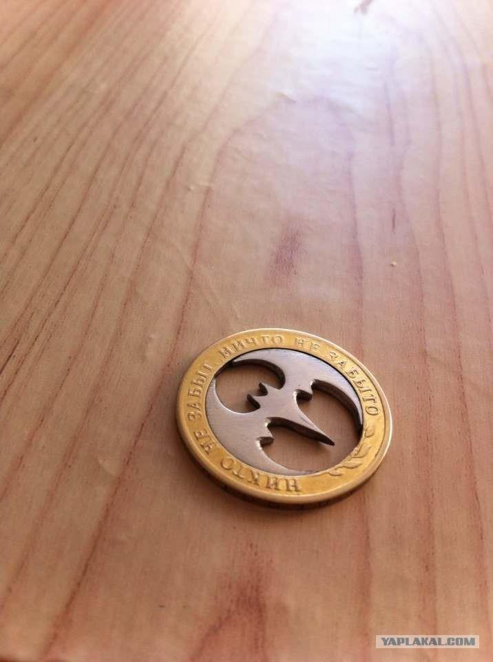 Как сделать кулон из монет