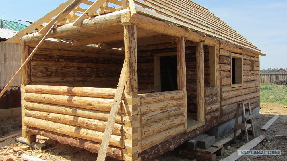 Построить сруб дома из бревна своими руками