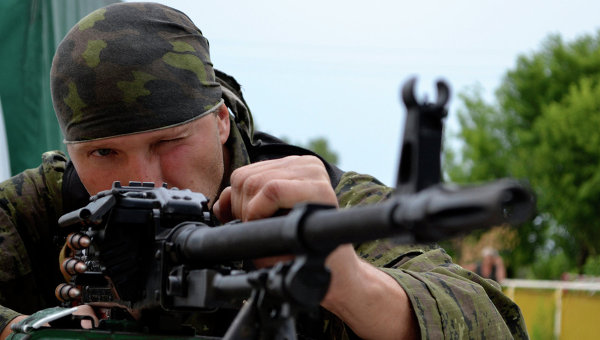 Ополченцы остановили 40 танков под Луганском