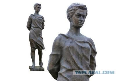 В Рузе открыли памятник Зое Космодемьянской