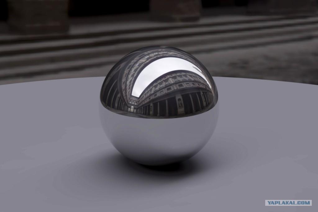 Заглушка для трубы d32мм пласт,шар, хром